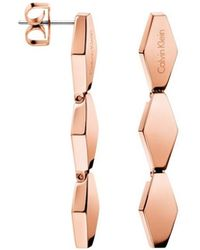 Calvin Klein - Snake Polished Rose Gold Pvd Earrings - Lyst