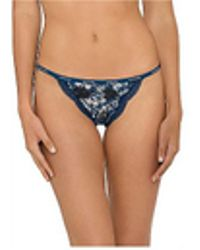 Calvin Klein - Sheer Marquisette With Lace String Thong - Lyst