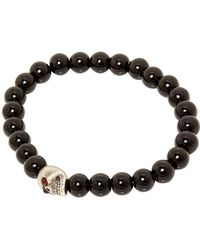 Simon Carter - Onyx Bead Bracelet With Skull Bead Set - Lyst