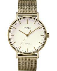 Timex - Fairfield 41mm Gold/gold Mesh Watch - Lyst