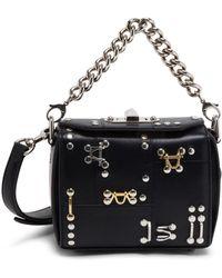 Alexander McQueen - Box Bag 16 With Studs & Piercing - Lyst