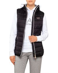 Emporio Armani - Down Zip Puffer Vest - Lyst