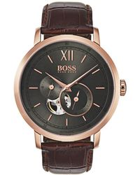 BOSS Black - Gents Signature Timepiece Collection Mech-automatic Iprg Rnd - Lyst