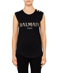 Balmain - Sleeve Lee Tank Co - Lyst
