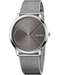 Calvin Klein - Minimal Cool Grey Dial Watch - Lyst