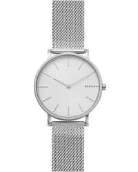 Skagen - Hagen Slim Stainless Steel-mesh Watch - Lyst