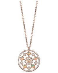 Astley Clarke - Rose Gold Icon Nova Medium Opal Pendant Necklace - Lyst