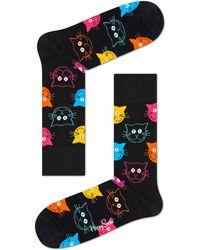 Happy Socks - Cat Multi Sock - Lyst