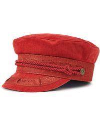 Brixton - Albany Cap (red Clay) Caps - Lyst