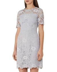 Reiss - Lina-lace A Line Dress - Lyst