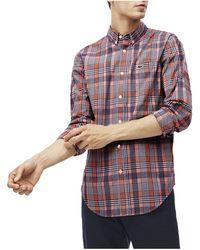 Lacoste - Slimfit Check Shirt - Lyst