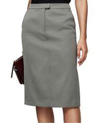 Reiss - Era-satin Pencil Skirt - Lyst