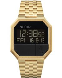 Nixon - Re-run A158. 100m Water Resistant 's Digital Watch (38.5mm Digital Watch Face. 13-18mm Stainless Steel Band) - Lyst