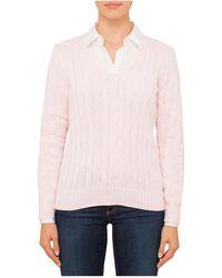 Polo Ralph Lauren - Kimberly Cotton Classic Cble - Lyst
