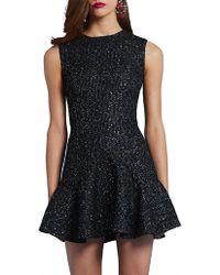 3c53ff959c0e BY JOHNNY. Spotty Dotty Bell Hem Mini Dress in Black - Lyst