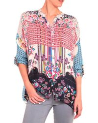 Johnny Was - Patch Button-down Blouse - Lyst