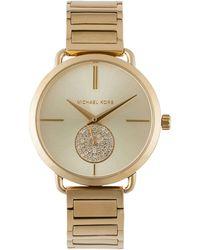 aad988567ee2 Michael Kors Mk3845 Portia Mesh Watch In Rose Gold 37mm in Metallic ...