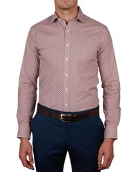 Geoffrey Beene - Park Coty Stretch Print Body Fit Shirt - Lyst