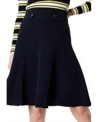 Karen Millen - Soft Military Skirt - Lyst