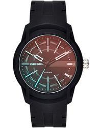 DIESEL - Armbar Silicone Black Watch - Lyst