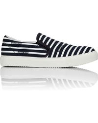 Armani Jeans - Striped Canvas Slip On Trainer - Lyst