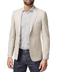 Simon Carter - 2b Sb Sv Wool/lin Plain Hopsack Jacket - Lyst