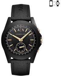Armani Exchange - Silicone Strap Hybrid Smart Watch - Lyst