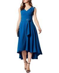 Karen Millen - Belted Fluid Midi Dress - Lyst