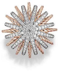 David Yurman - Starburst Ring With Diamonds In Rose Gold - Lyst