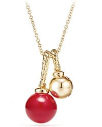 David Yurman - Solari Pendant Necklace In 18k Gold With Cherry Amber - Lyst
