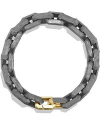 David Yurman - Meteorite Link Bracelet With 18k Gold - Lyst