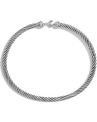 David Yurman | Cable Buckle Bracelet With Diamonds, 3mm | Lyst