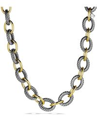 David Yurman - Extra-large Oval Link Necklace With 18k Gold - Lyst