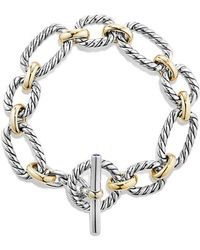 David Yurman - Crossover Four-row Cuff With Diamonds In Gold - Lyst