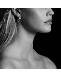 David Yurman - Belmont Curb Link Earrings With Diamonds - Lyst