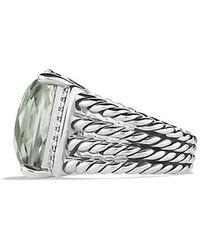 David Yurman - Wheaton Ring With Prasiolite And Diamonds - Lyst