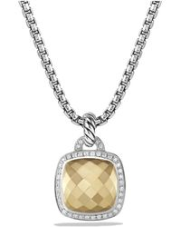 David Yurman - Albion® Pendant With Diamonds And 18k Gold Dome, 14mm - Lyst