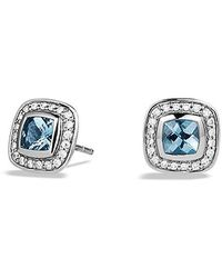 David Yurman - Petite Albion® Earrings With Blue Topaz And Diamonds - Lyst