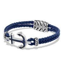 David Yurman   Pavé Anchor Bracelet With Blue Sapphire   Lyst