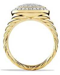David Yurman - Albion® Ring With Diamonds In 18k Gold, 11mm - Lyst