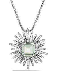 David Yurman - Starburst Pendant Necklace With Prasiolite And Diamonds, 30mm - Lyst