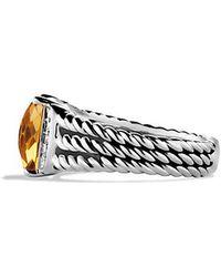 David Yurman | Petite Wheaton® Ring With Citrine And Diamonds | Lyst