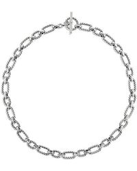 David Yurman - Cushion Link Necklace With Diamonds, 12.5mm - Lyst