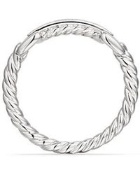 David Yurman - Petite Pavé Ring With Diamonds In 18k White Gold - Lyst