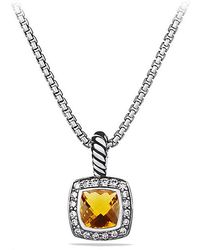 David Yurman - Petite Albion® Pendant Necklace With Citrine And Diamonds - Lyst