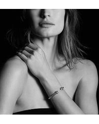 David Yurman   Renaissance Bracelet With Black Diamonds In Silver, 5mm   Lyst
