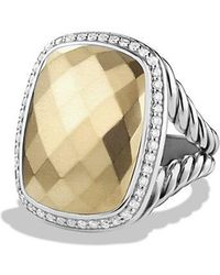 David Yurman - Albion Ring With Diamonds And 18k Gold - Lyst