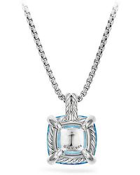 David Yurman - Châtelaine Pendant Necklace With Blue Topaz And Diamonds - Lyst