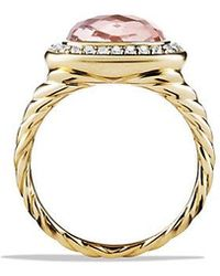 David Yurman - Albion® Ring With Morganite And Diamonds In 18k Gold - Lyst