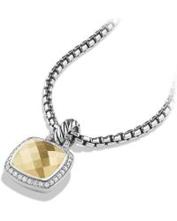 David Yurman - Albion® Pendant With Diamonds And 18k Gold, 11mm - Lyst